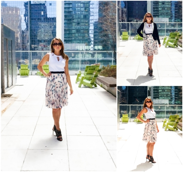 Outfit of the Day - Crepe Skirt